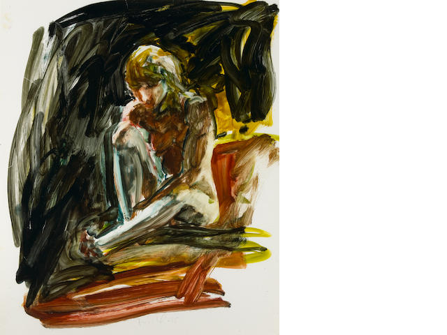 Eric Fischl (American, born 1948) Untitled, 1985 20 x 16 3/4in (50.8 x 42.5cm)