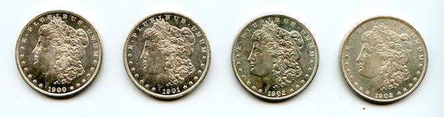 1900-O $1; 1901-O $1; 1902-O $1 (2)