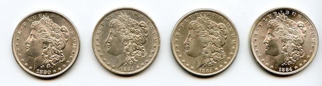 1880 $1, 1884 $1 (3)
