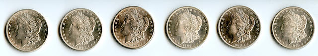 1878 7/8TF $1; 1880 $1; 1884 $1; 1890 $1; 1897 $1; 1904 $1