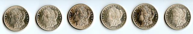 1878 7/8TF $1, 1880 $1, 1884 $1, 1890 $1, 1897 $1, 1904 $1
