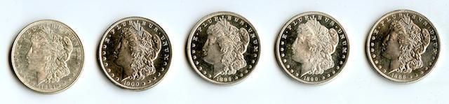 1888 $1, 1890 $1, 1896 $1, 1900 $1, 1921 Morgan $1