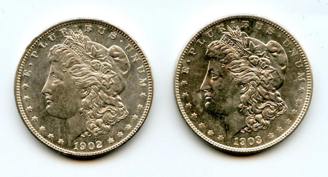 1902 $1, 1903 $1