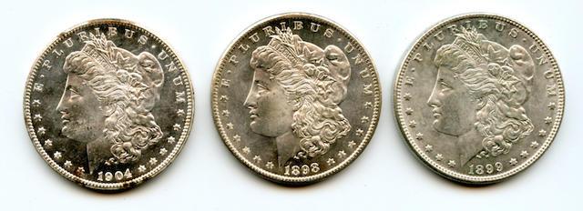 1899 $1, 1898-O $1, 1904-O $1