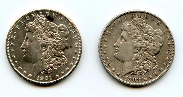 1901-S $1, 1903-S $1