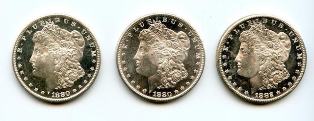 1880-S $1 (2), 1882-S $1