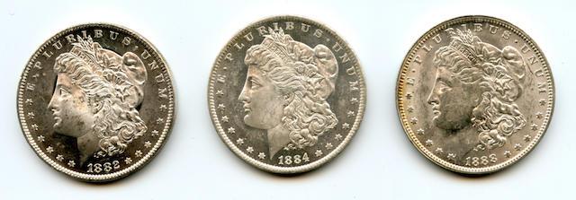 1882-O $1; 1884-O $1; 1888-O $1