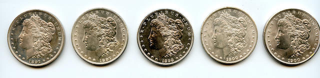 1897 $1 (2); 1898 $1; 1900 $1 (2)
