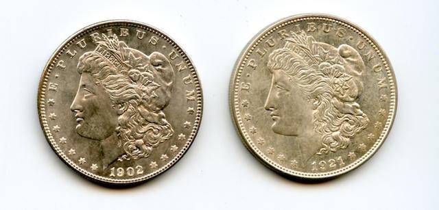 1902 $1; 1921-D $1