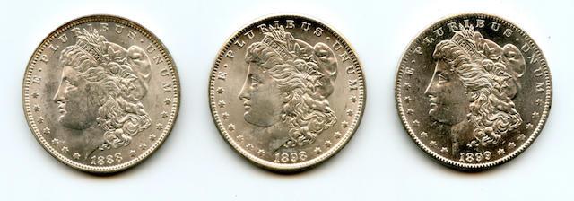1888-O $1; 1898-O $1; 1899-O $1
