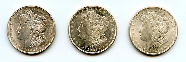 1921 Morgan $1, 1921-D $1, 1921-S $1