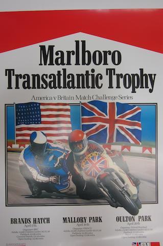 A Marlboro Transatlantic Trophy, American V. Britian Match Challenge Sereis poster, 1981,