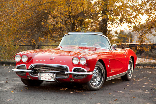 327/340hp-powered,1962 Chevrolet Corvette Roadster  Chassis no. 20867S100504