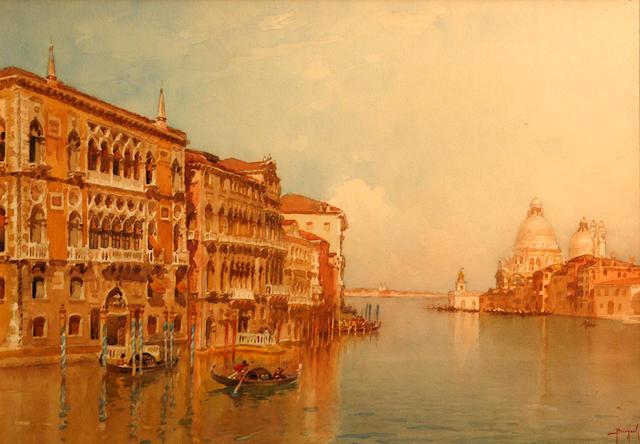 A pair of 20th C. Venetian School, w/c