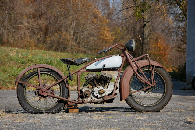 c.1928 Indian 45ci 101 Scout Engine no. DGP227