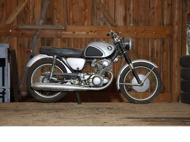 7,281 miles from new,c.1963 Honda 305cc CB77 Frame no. CB77 100291 Engine no. CB77E-100312