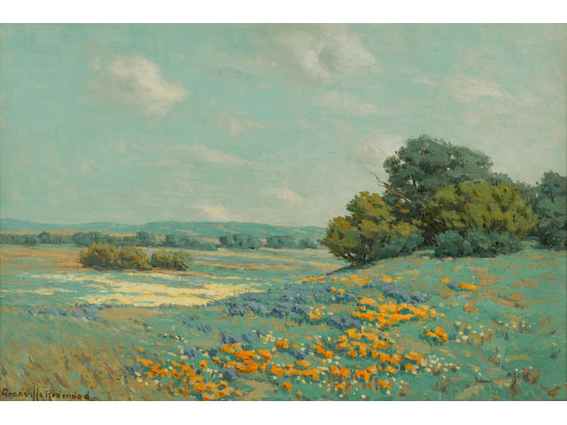 Granville Redmond (American, 1871-1935) California poppy field, 1915 12 x 18in