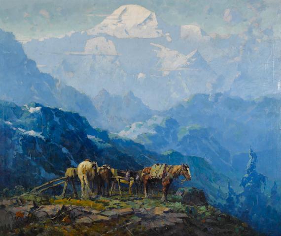 Eustace Paul Ziegler (American, 1881-1969) Mount McKinley 40 x 48in