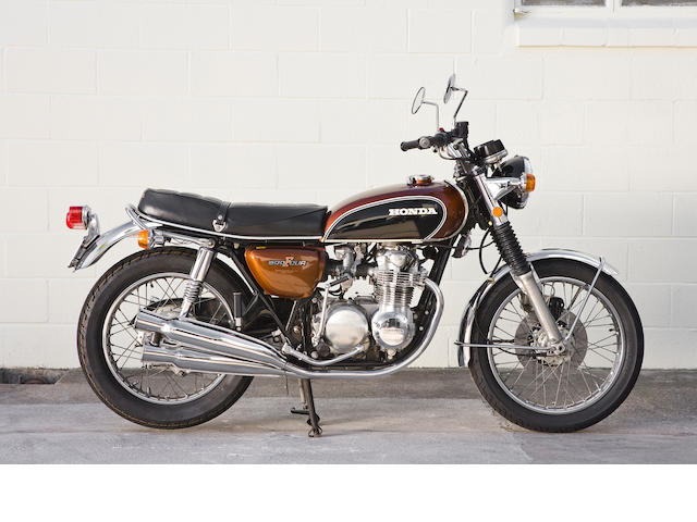 Japanese home market specification,1971 Honda 498cc CB500 Four Frame no. CB500 1021410 Engine no. CB500E1021811