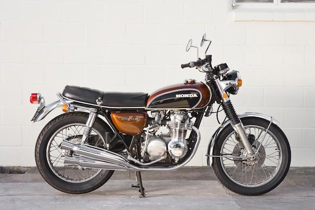 Japanese home market specification,1971 Honda 498cc CB500 Four Frame no. CB500 1021410 Engine no. CB500E1021811
