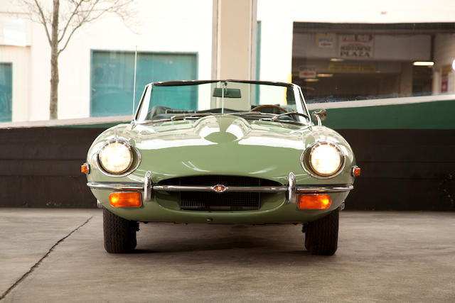 Approximately 11,000 miles from new, incredibly well-preserved,1969 Jaguar E-Type 4.2-Liter Series 2 Roadster  Chassis no. 1R8626 Engine no. 7R 4387-9