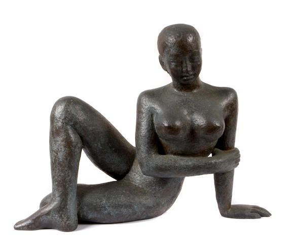 Dora Gordine (British, 1906-1991), * ON INSPECTION * Nude Woman 20 x 28 x 14 1/2in (50.8 x 71.1 x 36.8cm)