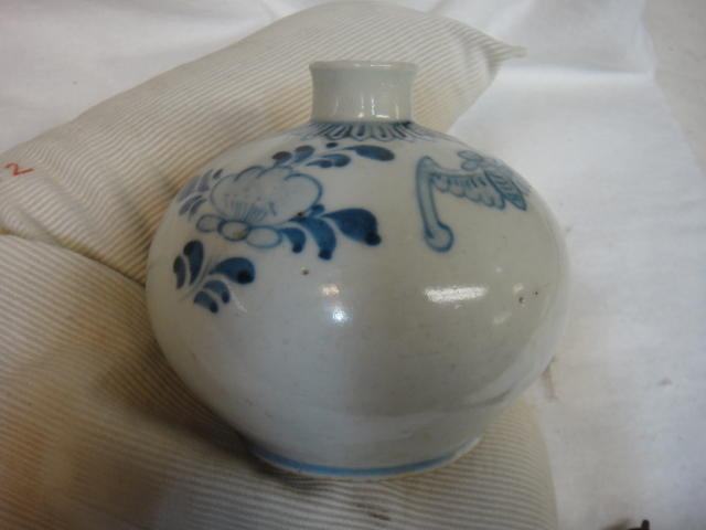 A blue and white porcelain miniature bottle vase Joseon dynasty, 19th century