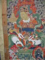 A Tibetan thangka of Dharmatala 19th century
