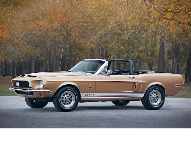 Documented, numbers matching, well optioned,1968 Ford Shelby GT500 Convertible  Chassis no. 8T03S178845-02895