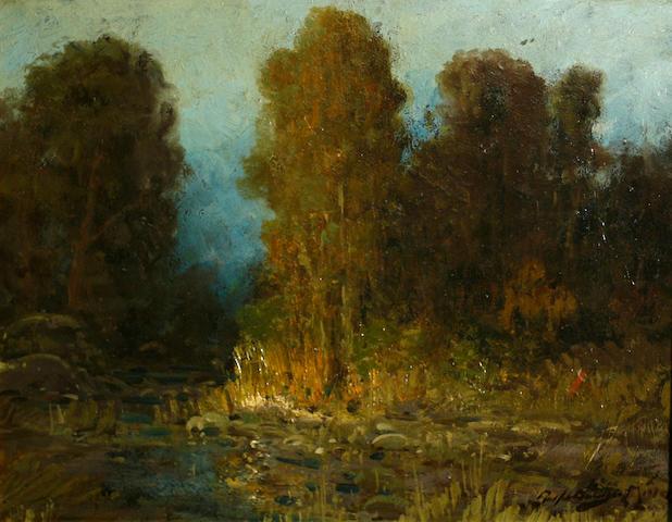 Ralph Davison Miller (American, 1858-1945) Nocturnal stream 16 x 20in