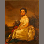French School (?) 19th C., A portrait of a young girl