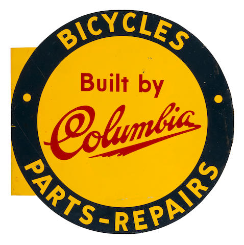 A Colombia Bicycles sign,