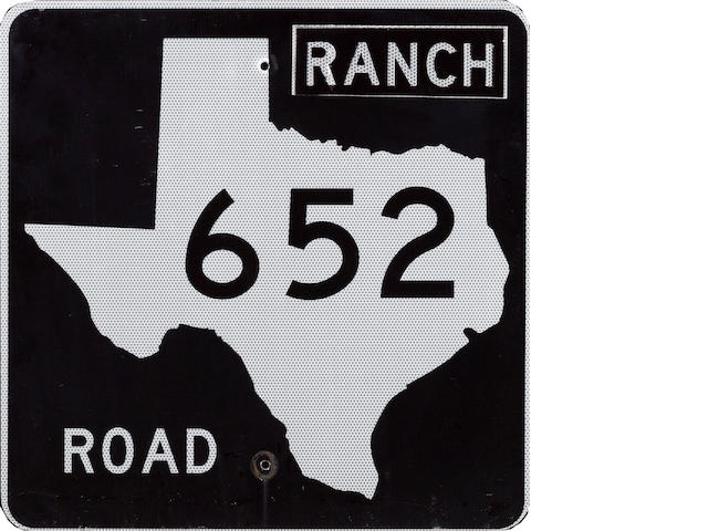 A Texas State Highway 652 'Ranch Road' sign, 1970's,