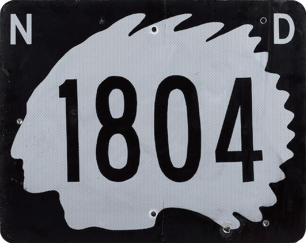 A North Dakota State Highway 1804 sign, 1970's,