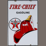 A Texaco Fire chief pump plate, 1947,