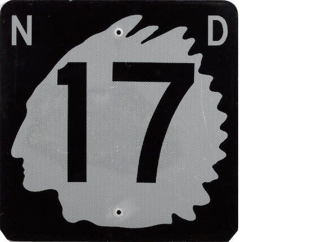 A North Dakota State Highway 17 road sign, 1970's