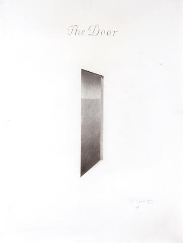 """Peter Lodato, The Door, pencil on paper, 19"""" x 25"""""""