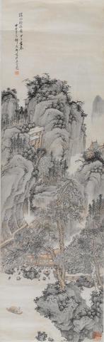 Shao Yixuan (1886-1954)  Landscape, 1924