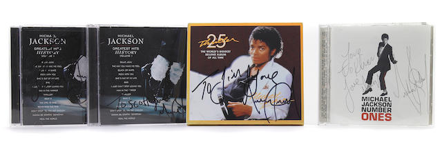 Michael Jackson signed CDs