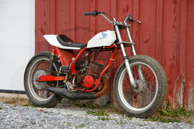 c.1980 Knight-Honda CR250 Flat-Track Racing Motorcycle Engine no. ME03E