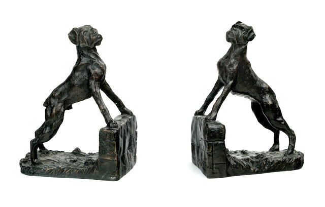 A pair of Boxer bookends