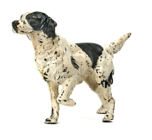 A cold-painted metal figure of an English Setter