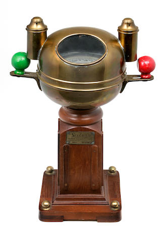 A small Sestrel yacht binnacle  20th century 20-1/2 x 13 in. (52 x 33 cm.)