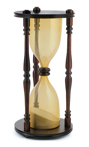 A large hour glass<BR /> 20th century 23-1/2 x 11 in. (59.7 x 27.9 cm.)