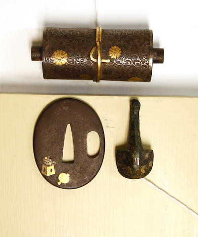 Two iron ornaments  Edo Period