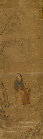 After Hua Yan (1682-1762) Mother and Child