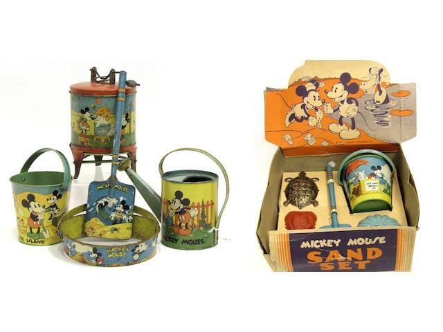 Lithographed Enterprise Seaside Toys