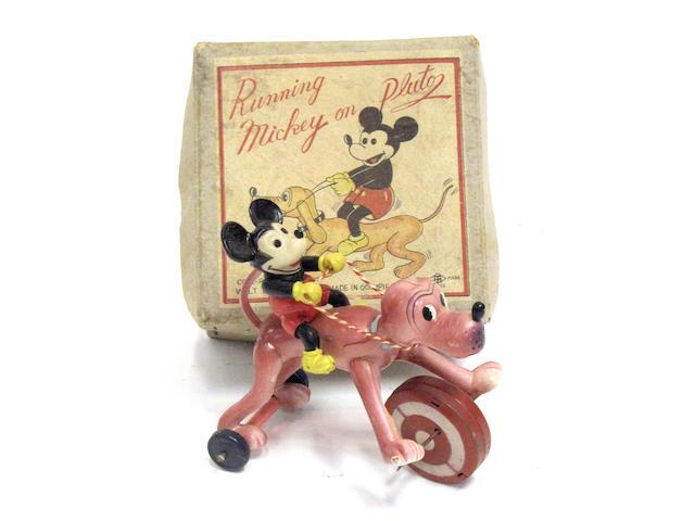 Boxed Running Mickey On Pluto