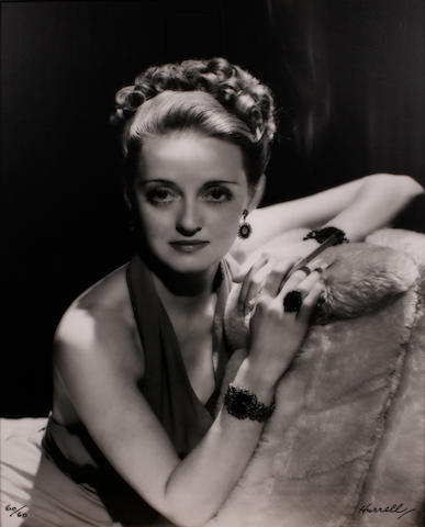 George Hurrell (American, 1904-1992); Bette Davis, Posing for YOU Magazine in a new hairstyle (Portfolio I);