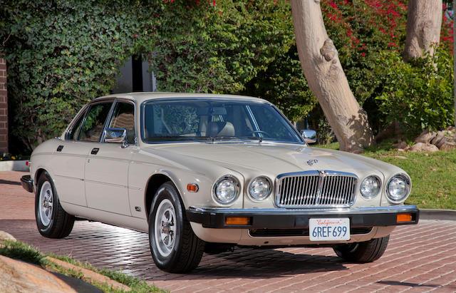 8,333 miles,1986 Jaguar XJ6 Sedan  Chassis no. SAJAV134XGC453904